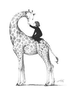 Giraffe drawing by Spowys on deviantART