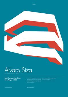 10 brilliant poster designs : Architecture Poster on Alvaro Siza by Skyl David. Graphic Design Posters, Graphic Design Inspiration, Typography Design, Poster Designs, Web Design, Layout Design, Print Design, Poster Ads, Poster Prints