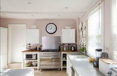 pastel pink kitchen