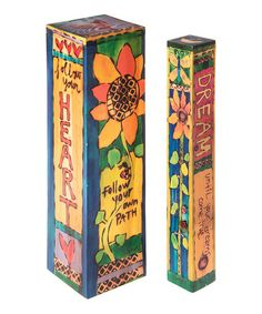 Take a look at this 'Heart' Floral Table Pole Set today! Peace Pole, Outdoor Art, Outdoor Ideas, Outdoor Life, Outdoor Projects, Outdoor Decor, Wood Block Crafts, Garden Poles, Pole Art