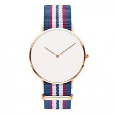 natobands japan movement quartz more than an watches stainless steel case band and loops buckle pin Nato Strap, Stainless Steel Case, Blue Stripes, Bracelet Watch, Red And White, Quartz, Silver, Accessories, Minimal