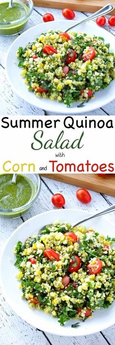 Summers best produce comes together in this simple and flavorful salad. Enjoy this tasty dish as is or topped with grilled shrimp or chicken for the perfect meal!