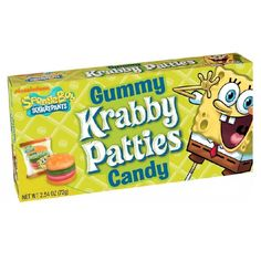 Spongebob Squarepants Gummy Krabby Patties Theatre Box - 2.54oz (72g) - New