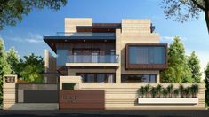 New House Compound Wall Pictures Design - Home Design Front Elevation Designs, House Elevation, Villa Design, Modern House Plans, Modern House Design, Wall Picture Design, Renovation Facade, House Front Wall Design, Compound Wall Design