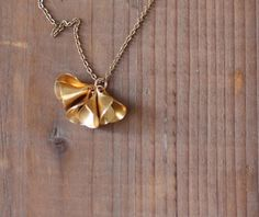 Scoops Vintage Brass Found Object Necklace by por prairieoats