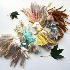 Unicorns by liberty lavender dolls