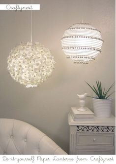 These are DIY paper lantern projects.
