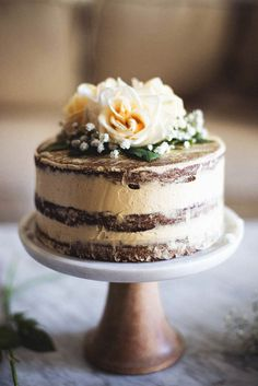 Salted Honey and Orange Blossom Naked Cake   a collaboration with Matters of the Belly