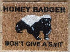 Honey Badger Doormat | 20 Hilarious Welcome Mats