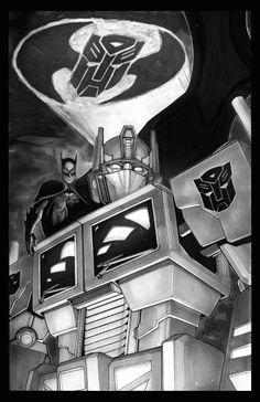 Batman and Optimus. . . .what tha $#*% !!