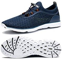 Vosda Men Stripe Casual Shoes for Mens Highly Breathable Air Running Shoes