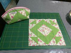 Necessaire em patchwork