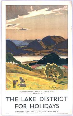 Vintage Poster   Lake District, England.