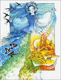 Stella Art, Kindergarten Art Projects, Ukrainian Art, Painting People, Cute Cartoon Wallpapers, Russian Art, Watercolor Art, Illustrators, Folk Art