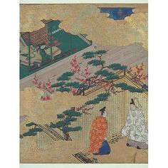 Suetsumuhana Chapter from The Tale of Genji, by Tosa Mitsuyoshi, Momoyama Period, 17th c, Kyoto National Museum.