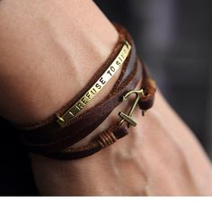 Personalized ancre wrap Bracelet, Bracelet personnalisé, cadeau de demoiselle d'honneur personnalisées, monogramme, personnalisé, cadeau pour lui par July8Designs sur Etsy https://www.etsy.com/fr/listing/219805811/personalized-ancre-wrap-bracelet