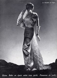 Jacques Heim 1936 Evening Gown, Fashion Photography