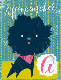 A is for affenpinscher | illlustration by debra ziss: Dogs A-Z (to be continued...)