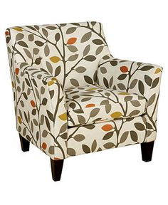 Ava Fabric Accent Chair, 33W x 36D x 34H - Chairs - furniture - Macy's
