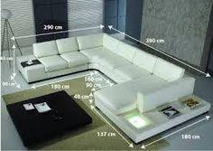 Image result for canape dimension en u Modern Furniture Sets, Modern Sofa, Sofa Furniture, Living Room Furniture, Living Room Decor, Furniture Design, Living Room Sofa Design, Living Room Designs, Sofas