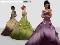 Sims 4 Mods Clothes, Sims 4 Clothing, Sims Mods, Female Clothing, Sims 4 Teen, Sims Cc, Cinderella Outfit, Sims 4 Dresses, Sims 4 Gameplay