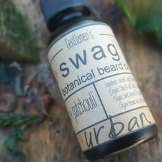 Beard Oil with patchouli, lemongrass and ginger. An all natural beard oil