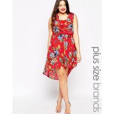 Diya Plus Sleeveless 50's Floral Dress
