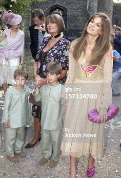 Jemima with her sons and mother..