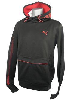 ff8b2b4db9eca Mens Puma Tech graphic Hoodie Sweatshirt Hoody Black Size S XXL Style  817057 19