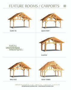 One of these is what I was thinking for a carport to park under. It's an old world look with one even looking like a barn frame.