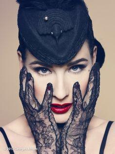 Dita Von Teese, Fashion, Red lipstick. Art.