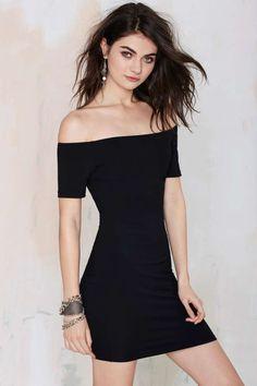 Nasty Gal Colita Bodycon Dress - LBD   Body-Con   Off The Shoulder   Dresses