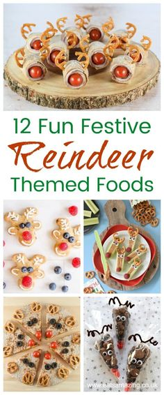 25 Fun Reindeer Themed Food Ideas and Recipes - Fun Christmas food for kids from Eats Amazing UK Easy Christmas Treats, Christmas Party Food, Christmas Snacks, Xmas Food, Christmas Cooking, Kids Christmas, Christmas 2019, Christmas Potluck, Rudolph Christmas