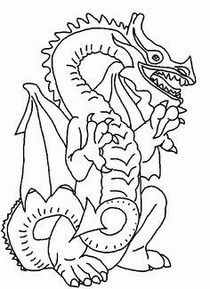 Drachen 7 Ausmalbilder