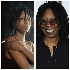 Whoopi Goldberg, b. Celebrities Then And Now, Whoopi Goldberg, Stars Then And Now, Yesterday And Today, Hollywood Stars, Movie Stars, Celebs, Actors, African Americans