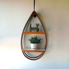 Hanging Teardrop Shelf by SwitchbladeandCookie on Etsy, $135.00