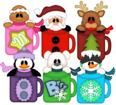 Mug Pals (Christmas & Winter) - Treasure Box Designs Patterns & Cutting Files (SVG,WPC,GSD,DXF,AI,JPEG)