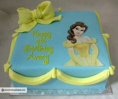Belle from Beauty & The Beast Cake - I like the draping idea along the the sides.