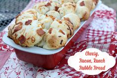 Mommy's Kitchen - Home Cooking & Family Friendly Recipes: Cheesy Bacon Ranch Bubble Bread. #superbowl #fingerfood @rhodesbread