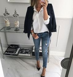 Perfect business casual outfit - so chic ❤️ Mode Outfits, Chic Outfits, Fall Outfits, Fashion Outfits, Womens Fashion, Fashionable Outfits, Dressy Outfits, Fashion Clothes, Work Fashion
