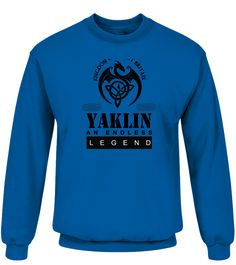 THE LEGEND OF THE ' YAKLIN '  Funny Name Starting with Y T-shirt, Best Name Starting with Y T-shirt, t-shirt for men, t-shirt for kids, t-shirt for women, fashion for men, fashion for women