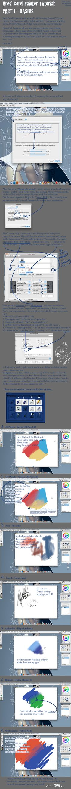 Corel Painter Tutorial PART I by ~arestocrat on deviantART