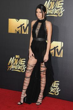 Kendall Jenner en Kristian Aadnevik aux MTV Movie Awards 2016