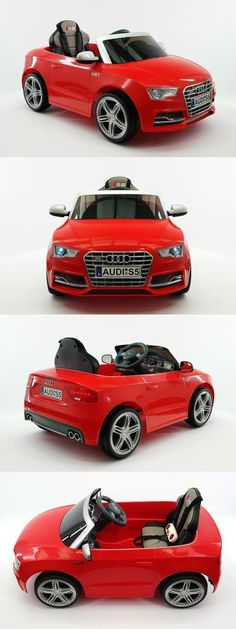 Toy Vehicles 145946: Kids 12V Battery Power Wheels Ride On Car Toy Mp3 Rc Remote Licensed Audi S5 Red -> BUY IT NOW ONLY: $249.95 on eBay!