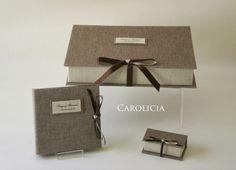 Carolicia Cartonaje: Conjunto de cajas y porta cd para boda