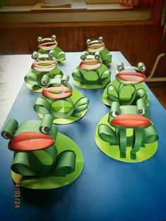 3d paper frogs