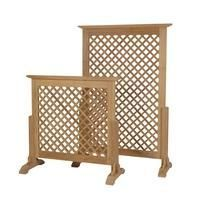 Build something like this than can be used on the front porch as a dog gate and moved back to corner when not in use.