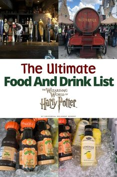 Headed to The Wizarding World of Harry Potter with the family? Here is the ultimate food and drink list for muggles visiting Universal Orlando Resort. The Wizarding World at Universal Orlando is known for butterbeer and chocolate frogs but what else is th Universal Studios Food, Universal Harry Potter Orlando, Universal Studios Florida, Universal Parks, Orlando Travel, Orlando Vacation, Orlando Resorts, Cruise Vacation, Vacation Destinations