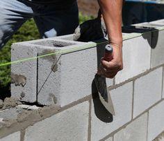 construir una pared de bloques