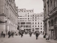 Haussman St Lazare is one plae that every visitor of Paris, France will defeinitely step in. This is a Photo of the Footpath of haussman St lazare railway station In Black and White